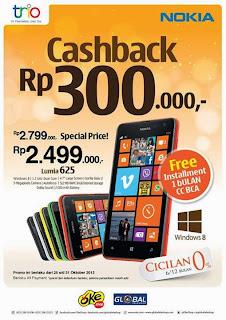 Nokia Lumia 625 Cashback Rp 300 Ribu
