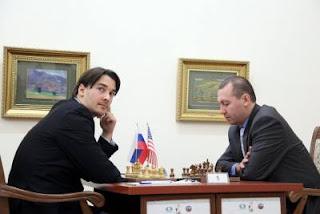 Échecs : Alexander Morozevich (2748) 1-0 Gata Kamsky (2762) © Anastasiya Karlovich