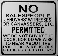 No Jehovah's Witnesses