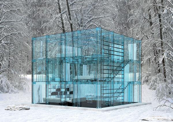 Το γυάλινο σπίτι του χιονιού και του
