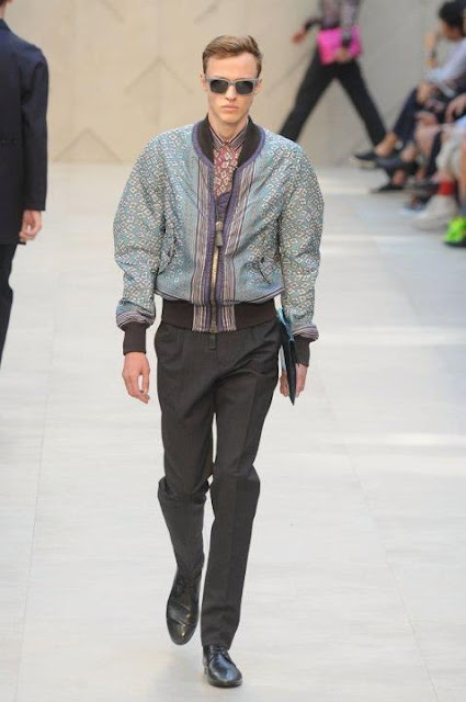 Milan Fashion Week S/S 2013: Alex Maklakov in a Burberry show