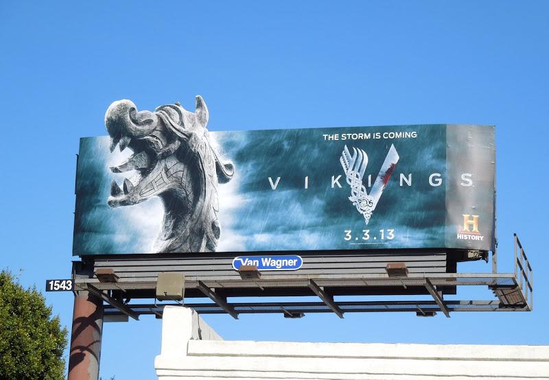 Vikings series premiere special extension billboard