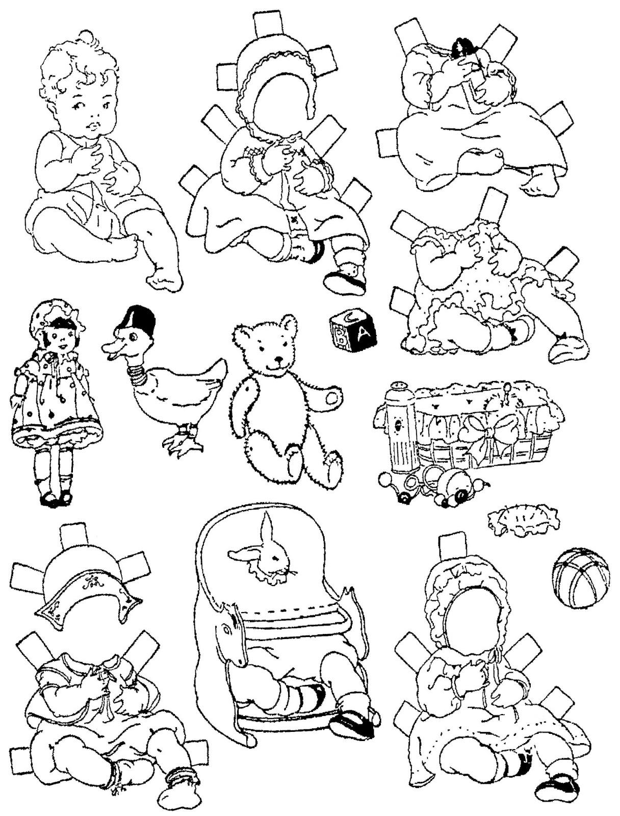 Mostly Paper Dolls Too Baby NELDA