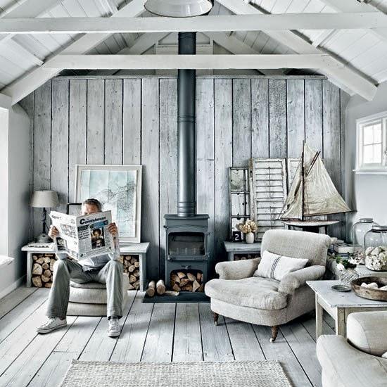 Rustic coastal style interiors/lulu klein