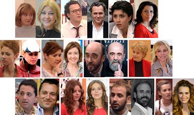 Principales actores de la serie 'Periodistas' de Telecinco