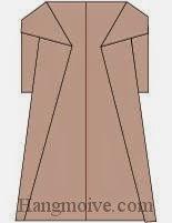 Bước 7: Hoàn thành cách xếp cái áo choàng bằng giấy theo phong cách origami.