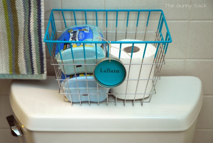 wire toilet paper storage basket