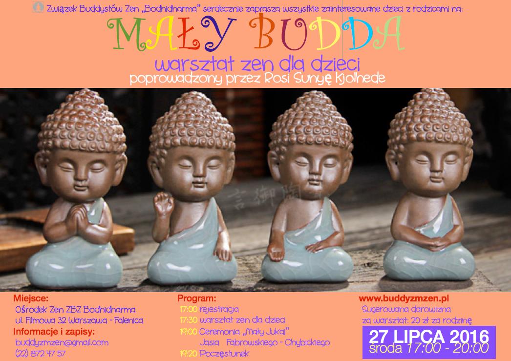 """""""Mały Budda"""" warsztat zen dla dzieci"""
