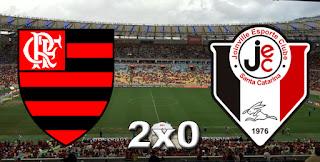 Placar Flamengo 2x0 Joinville
