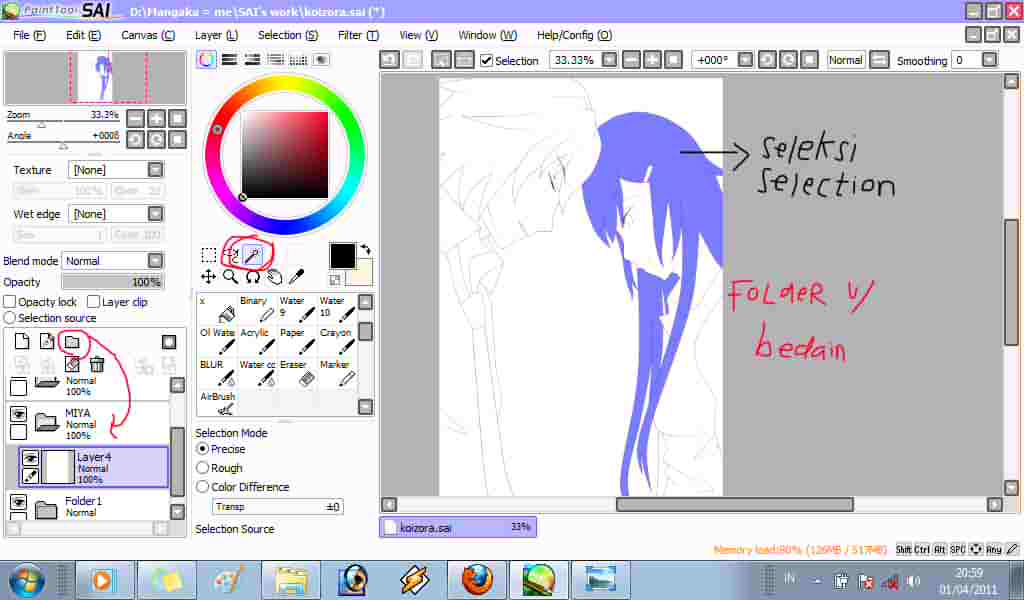 Paint Tool Sai Line Weight With Mouse