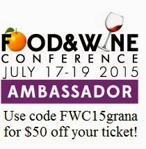 I am a 2015 Food & Wine Conference Ambassador!