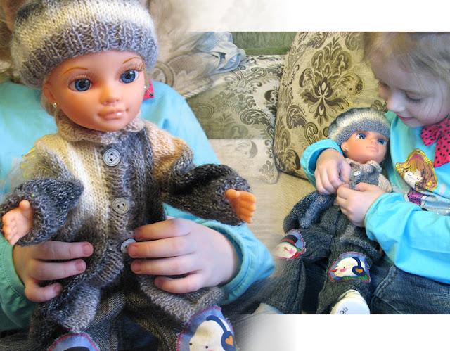 вязание носков, гардероб для куклы