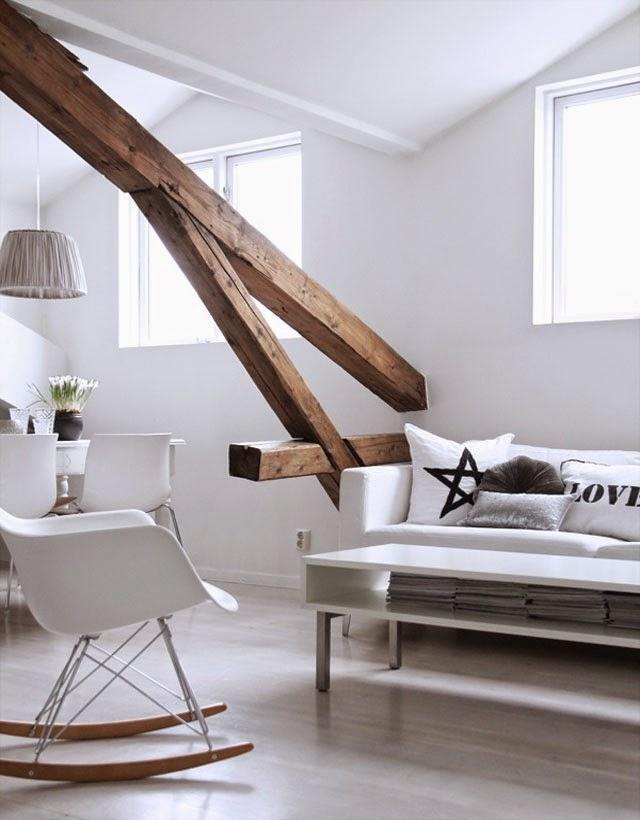 El encanto de decorar con vigas de madera