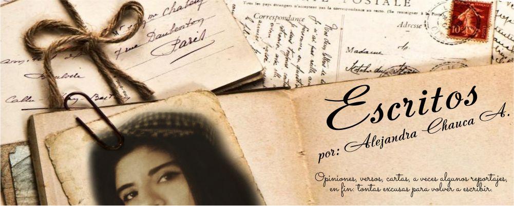 Escritos de Alejandra Chauca