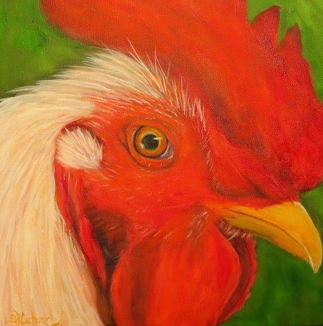 """""""Mr Cogburn"""", Rooster, original oils SOLD!"""