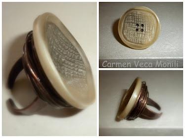Anello bottone vintage