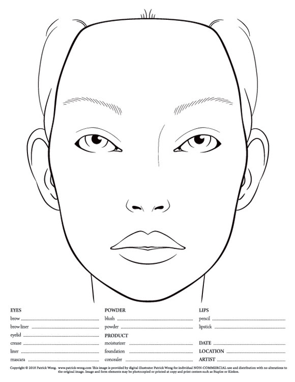 how to draw makeup on paper
