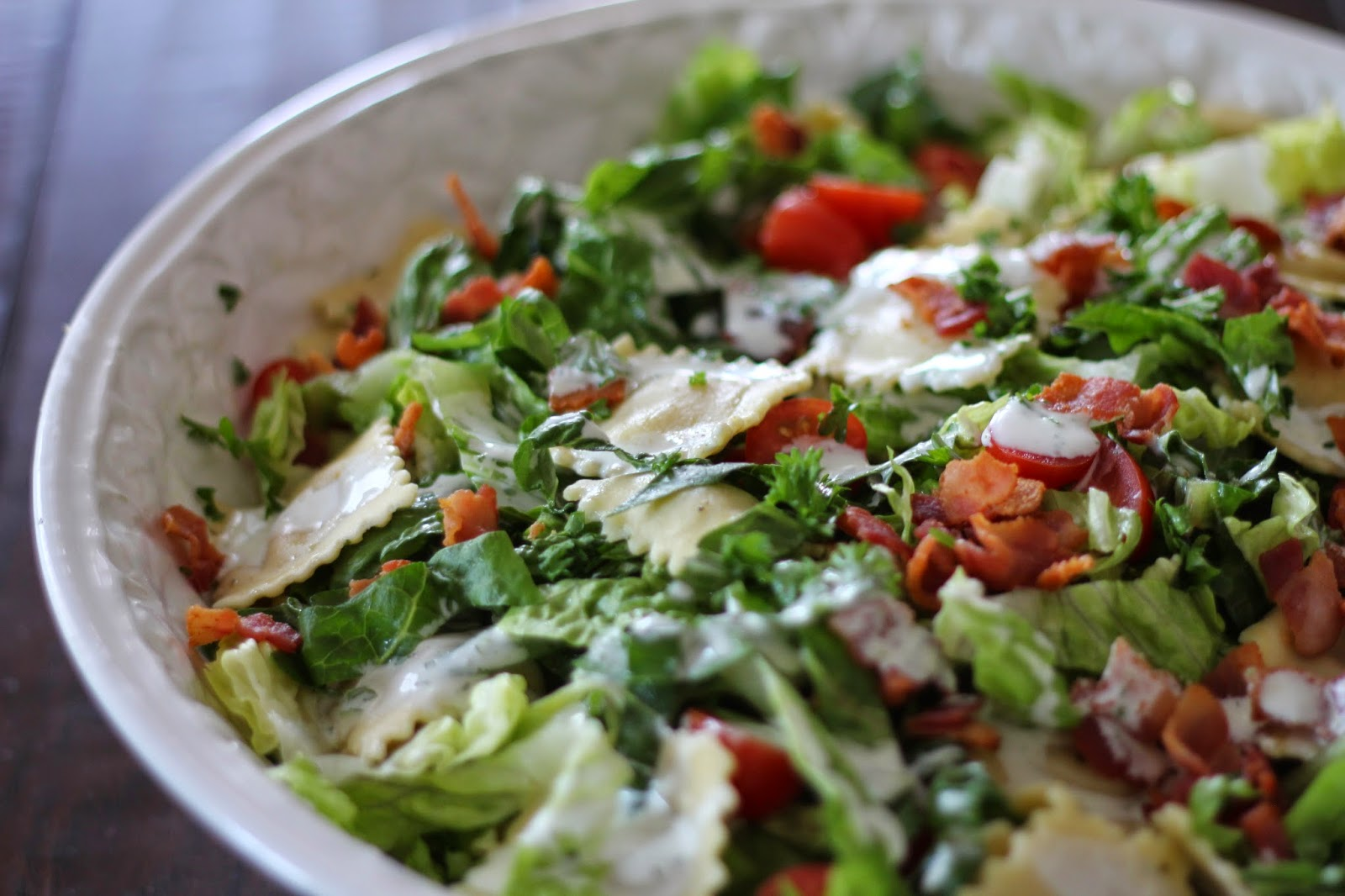 bls salad is a bacon lettuce blt salad with buttermilk blt salad ...