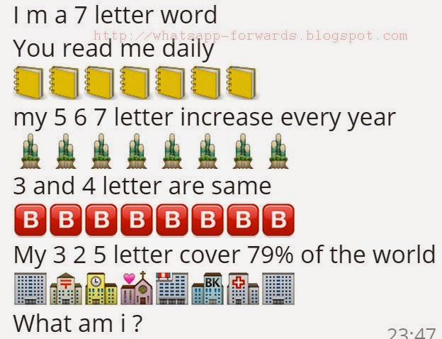 i m a 7 letter word