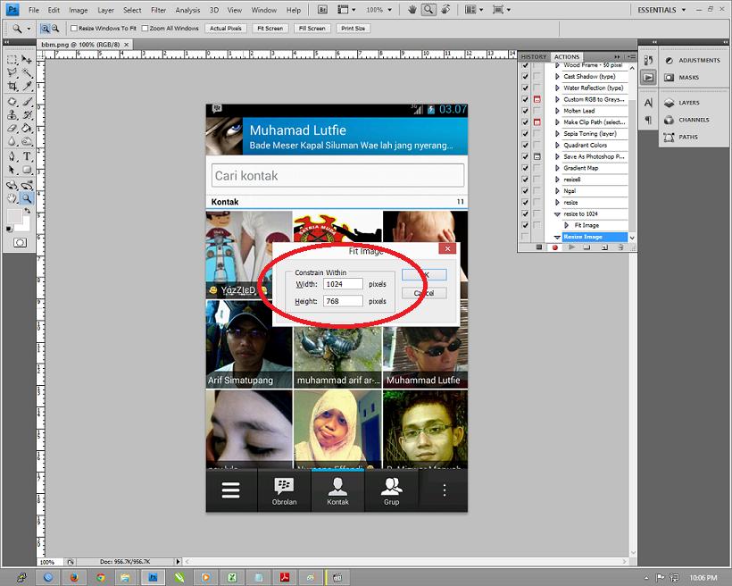 Action Adobe Photoshop