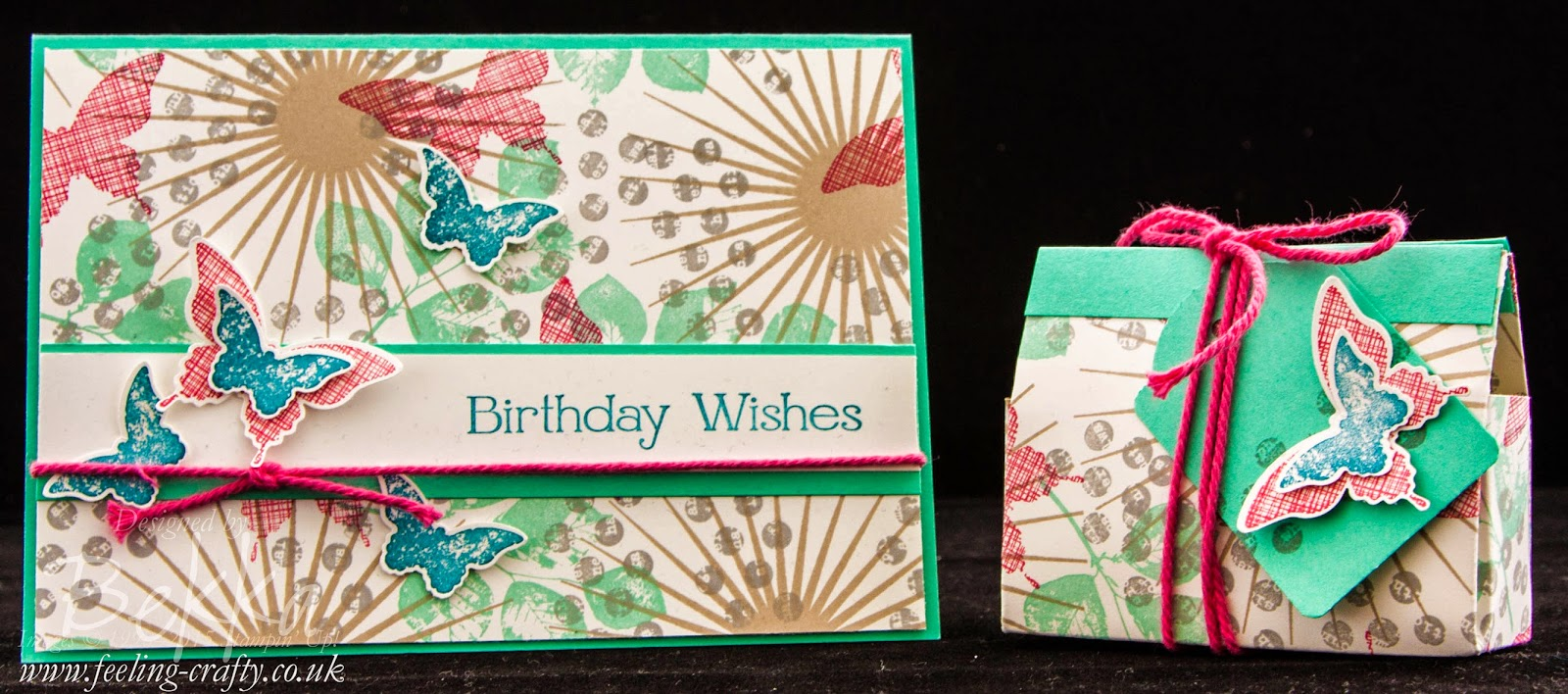 How To Make A Gift Bag and Matching Card From Two Sheets of Card And Have Some Left Over!