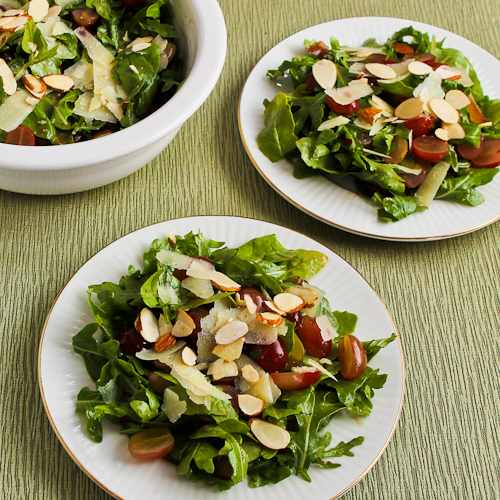 Arugula Salad with Red Grapes, Manchego, and Almonds