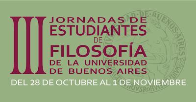 III Jornadas de Estudiantes de Filosofía (UBA)