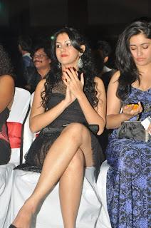 WWW.BOLLYM.BLOGSPOT.COM Actress Kamna Jethmalani  in Black Dress at CCL Season 2 Curtain Raiser Images Picture Stills Gallery 0013.jpg