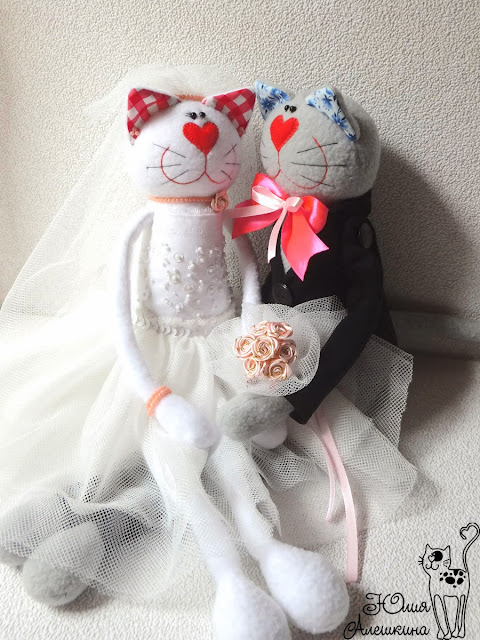 Котики молодожены на свадьбу