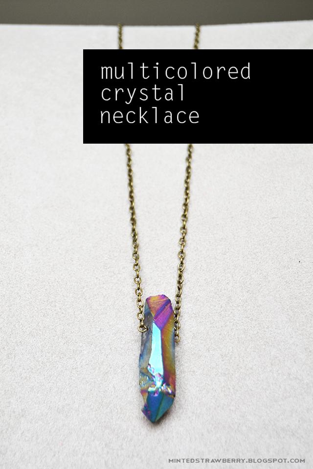 DIY: Multicolored Crystal Necklace