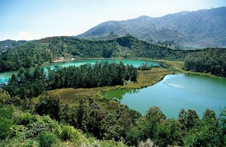 Telaga Warna at Dieng Highland - Indonesia