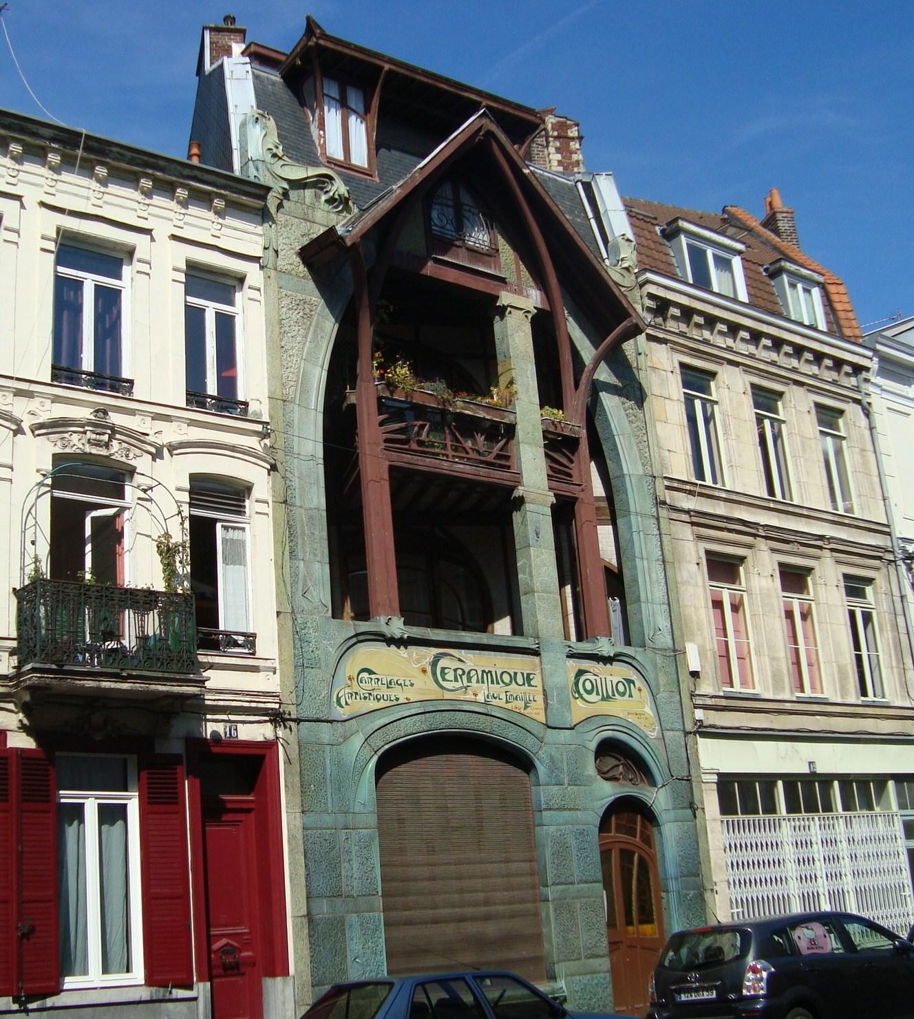 Paseos art nouveau hector guimard maison coilliot for Art maison la thuile