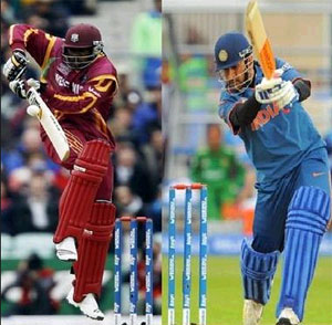 6th match of ICC Champions Trophy 2013 is between India and West Indies.