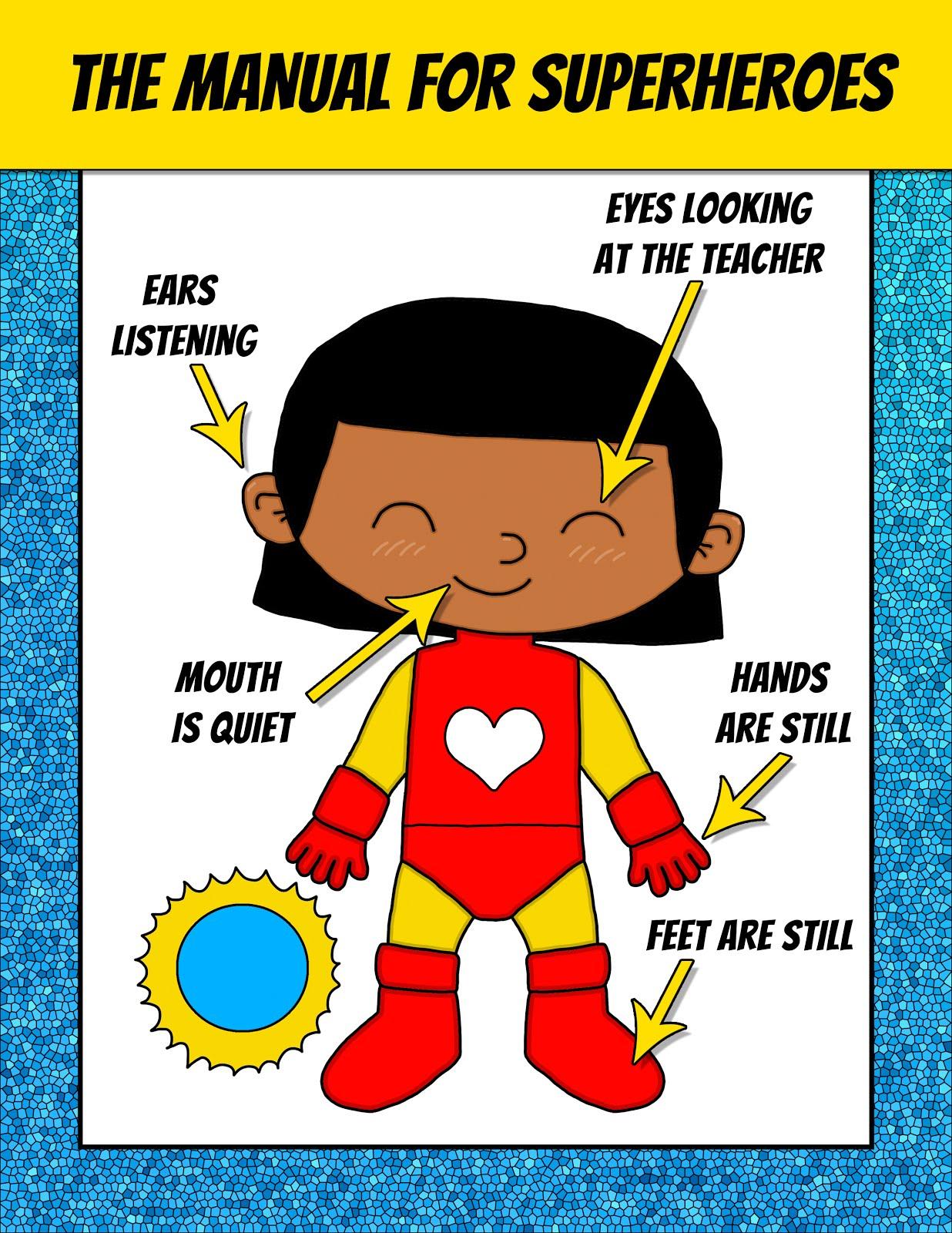 Classroom Decoration Superhero ~ Spanish teacher from spain superhero classroom posters free