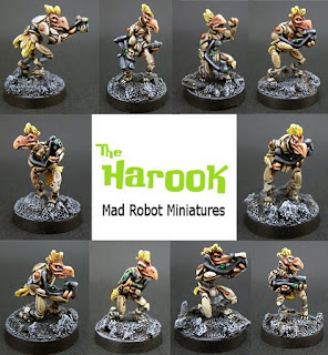 Mad Robot publicity pic of Harook, figures painted by Spacejacker, image stolen from Dropship Horizon blog without permission