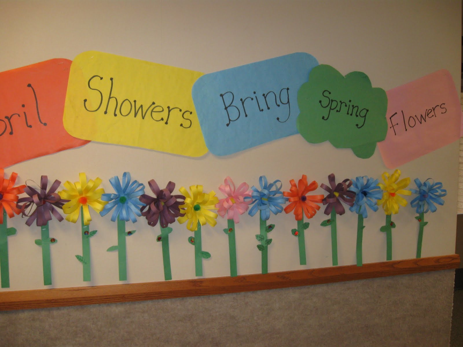 Patties Classroom April Showers Bring Spring Flowers