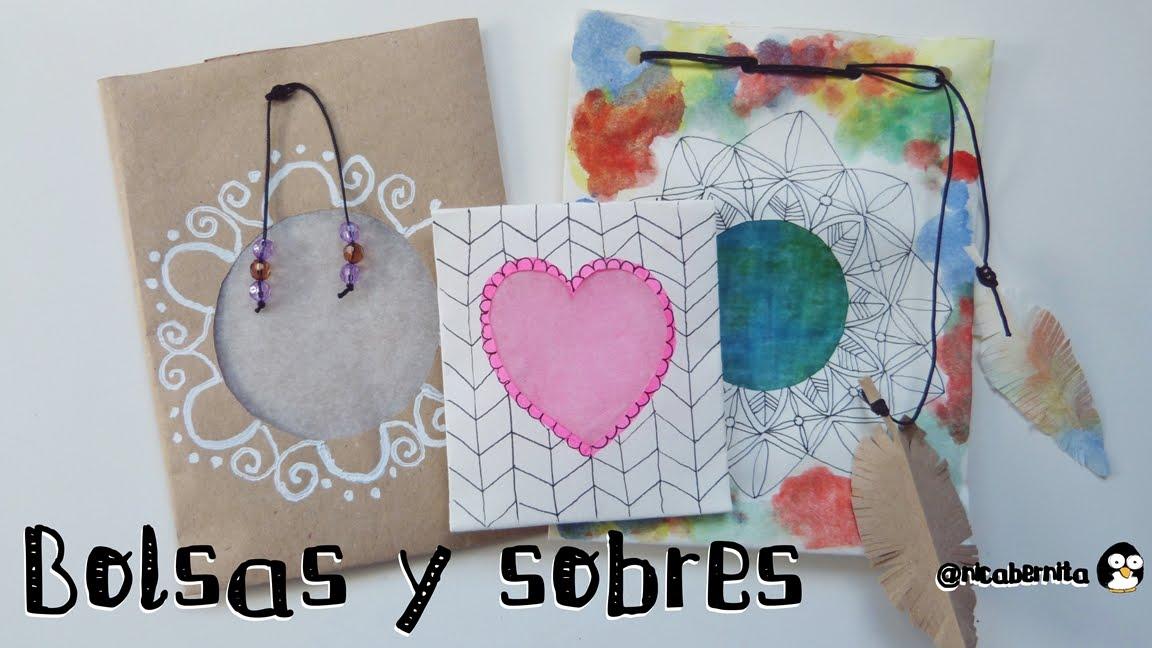 Bolsas sobres y envoltorios hechos a mano manualidades - Tipos de papel manualidades ...