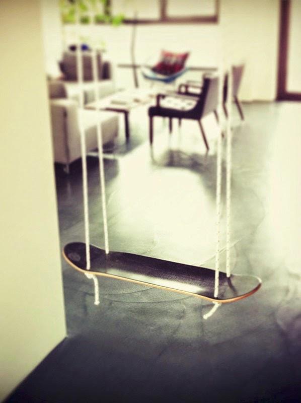 ارجوحة مصنوعة من لوح التزلج