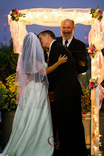 Veronica & Anthony kiss to seal their marriage vows - Kent Buttars, Seattle Wedding Officiant