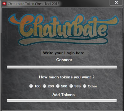 FREE CHATURBATE TOKEN HACK ACCOUNT GENERATOR TOOL | VALID CHEATS