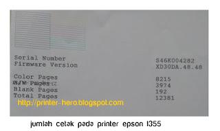 melakukan pengecekan total jumlah cetak pada printer epson