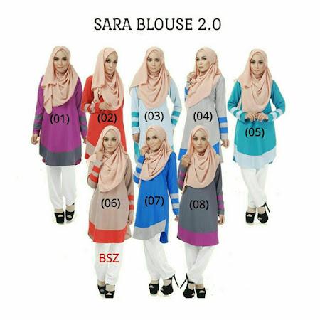 Dah Restock Long Tunic Kegemaran Ramai Sara Blouse 2.0  YAng Sangat Memukau Pandangan.