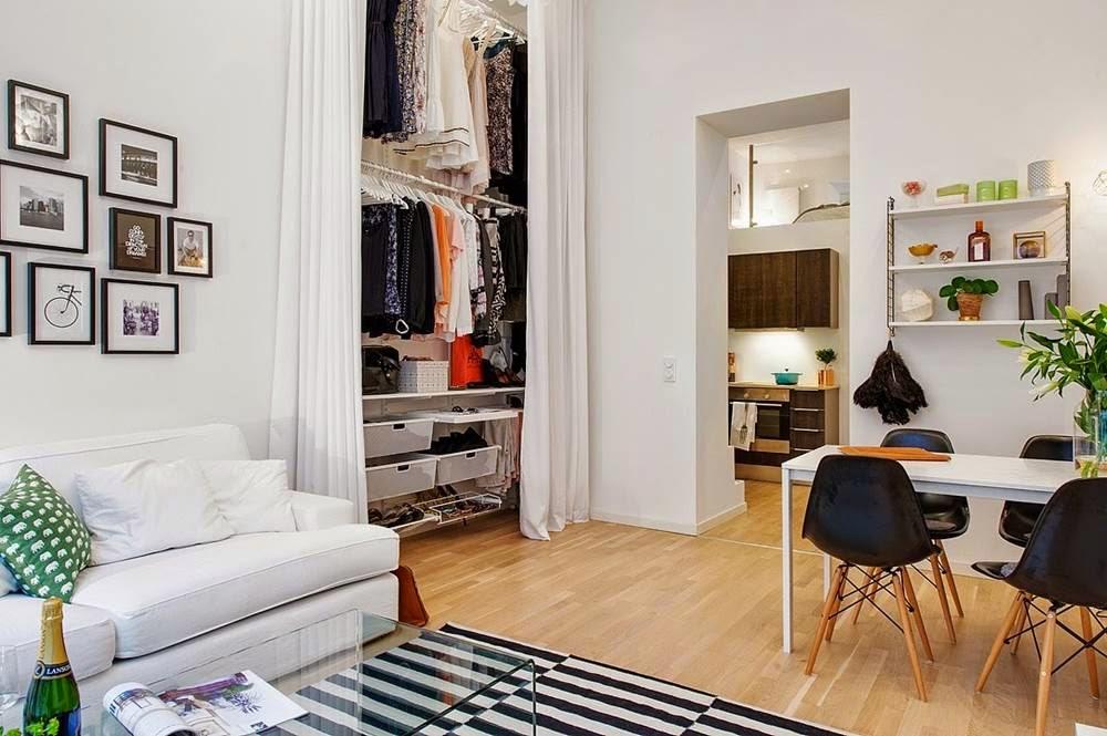 Decoraci n f cil armarios lowcost con cortinas for Armarios para salon