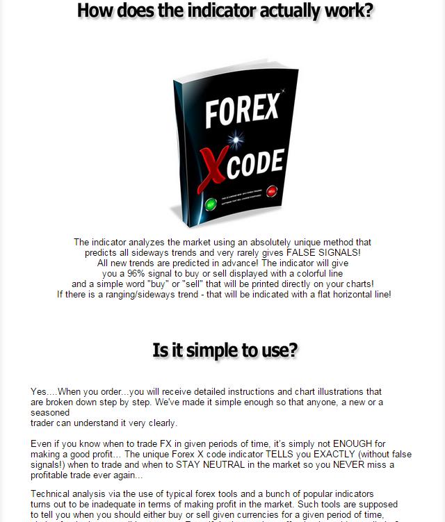 Forex x code indicator