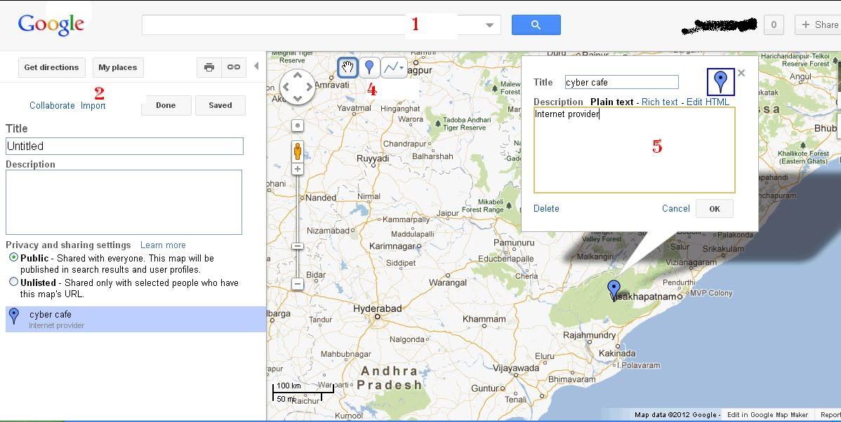 How to add you name and address of your personal infomrmation or add place in google map with full address ccuart Images