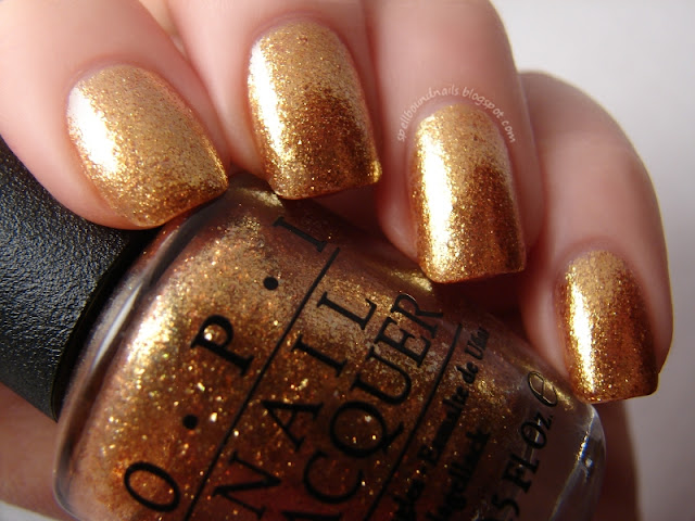 nails nailart nail art polish mani manicure Spellbound Happy New Year tape taped red gold glitter shimmer James Bond The Spy Who Loved Me Goldeneye OPI Skyfall Collection metallic flaky flakies holiday 007
