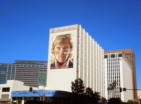Giant Rush movie billboard Wilshire Boulevard