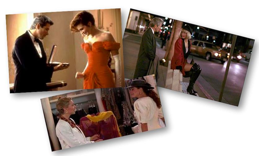 "Looks de Julia Roberts em ""Uma linda mulher"""