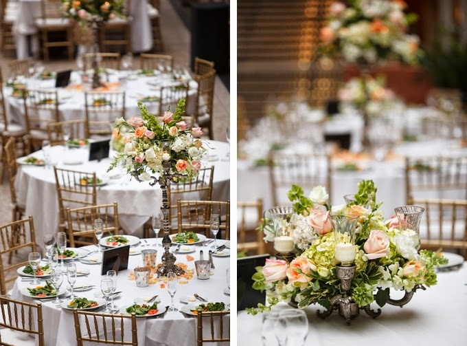 Elegant Peach and Blush Cleveland Wedding: David and Samantha