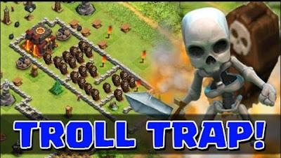 Cara Mudah Melihat Jebakan Giant Bom Dan Traps Tanpa Xmodgames Clash Of Clans Terbaru